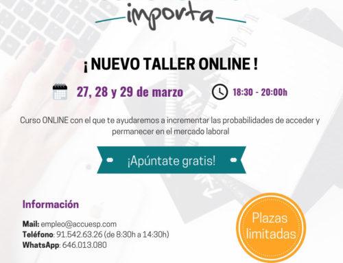 NUEVO TALLER ONLINE: TU TALENTO IMPORTA