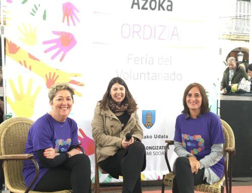 Gran visibilidad para ACCU Gipuzkoa en la Feria de Voluntariado de Ordizia